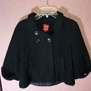Therapy by Lane Crawford wool blend black pea coat